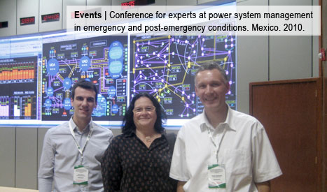 Conference for experts at power system management in emergency and post-emergency conditions. Mexico. 2010.